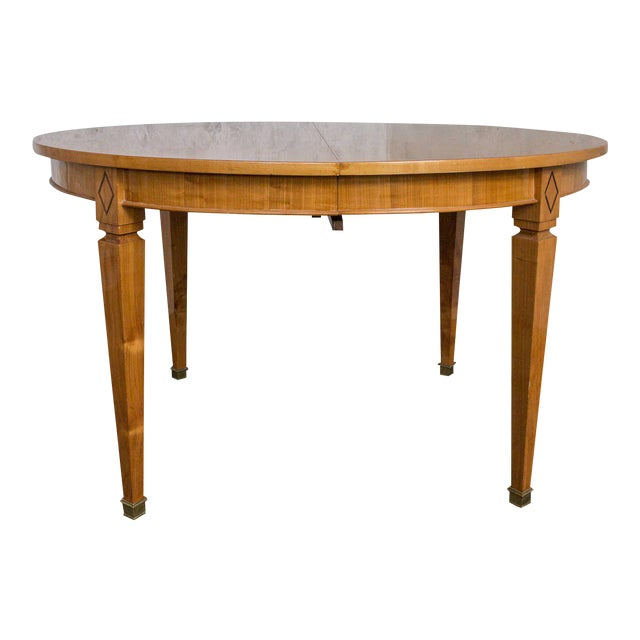 French 1940s Oval Dining Table For Sale