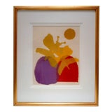 Image of Mid Century Modern Abstract Artist Signed Serigraph For Sale