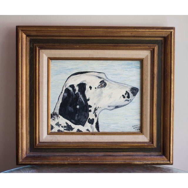 1966 Vintage Dalmatian Oil Painting - Image 2 of 8