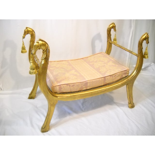 Gilded Horses Window Bench - Image 3 of 10