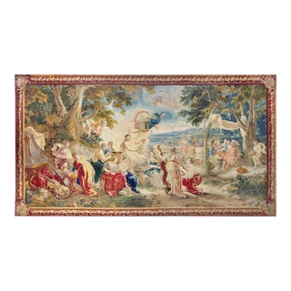 "18th Century Monumental Antique Tapestry From Brussels - ""Wedding of Psyché"" For Sale"