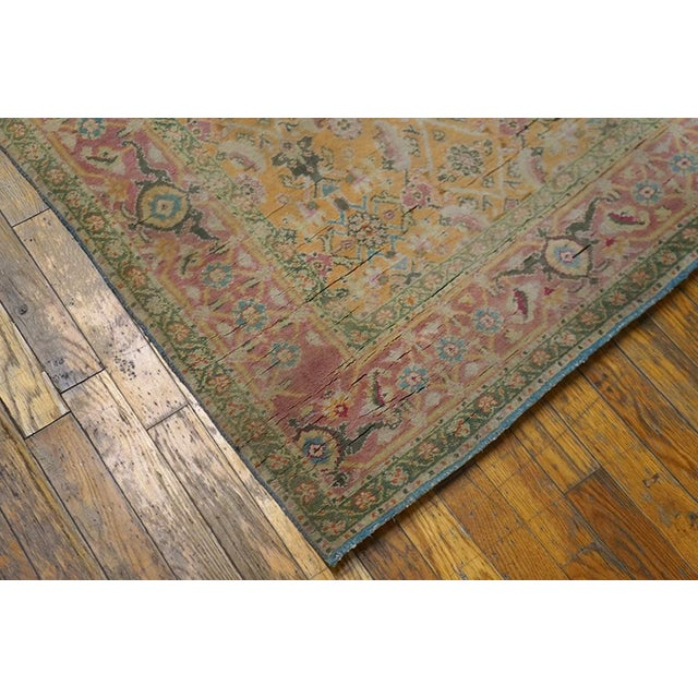 1920s 1920s Vintage Cotton Agra Rug - 3'x6' For Sale - Image 5 of 7