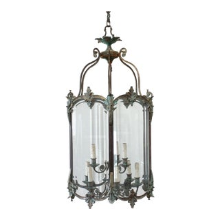 Early 19th Century Large Bronze Lantern Light For Sale