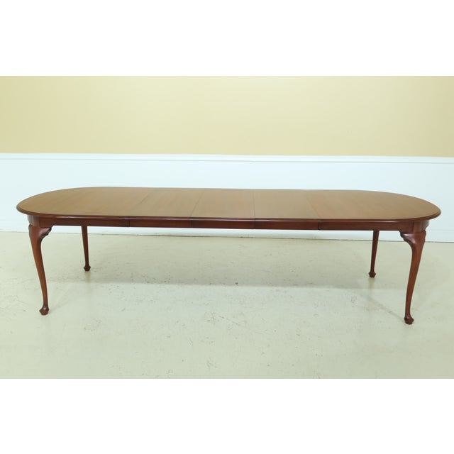 Wood Henkel Harris Oval Cherry Model 2206 Dining Room Table For Sale - Image 7 of 12