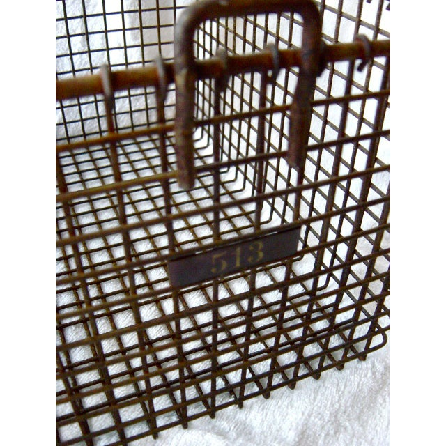 20th Century Americana Metal Gym Baskets - Set of 3 For Sale - Image 4 of 7