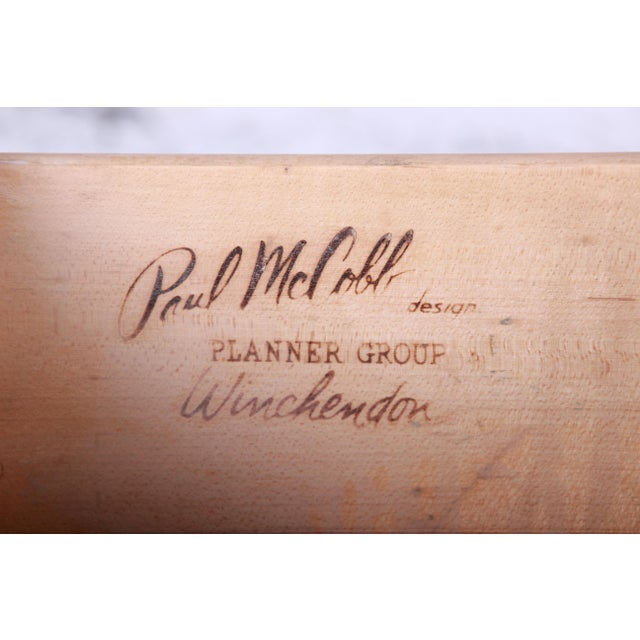Paul McCobb Planner Group Ebonized Six-Drawer Dresser, Newly Restored For Sale - Image 10 of 11