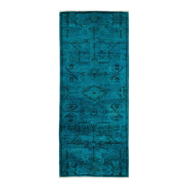 """Vibrance Hand Knotted Runner Rug - 2' 6"""" x 6' 0"""" - Image 1 of 4"""