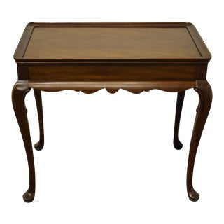 "Traditional Councill Craftsmen Solid Mahogany 31"" Accent/Tea Table For Sale"