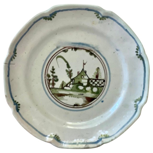 18th Century French Faience House Nevers Plate For Sale In Austin - Image 6 of 6