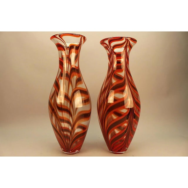 Modern 1950s Vintage Barovier Ercole Vases - a Pair For Sale - Image 3 of 5