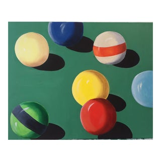 Original Cue Ball Painting For Sale