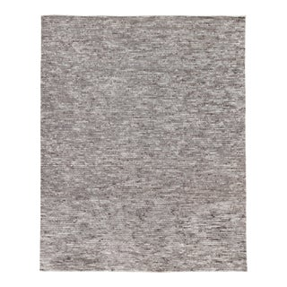 Exquisite Rugs Hamilton Hand Knotted Wool Gray & Ivory - 10'x14' For Sale