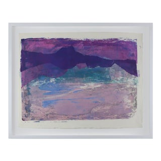 """1960s """"Serigraph 9"""" Abstract Print by Paul Chidlaw, Framed For Sale"""