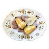 Image of Vintage Italian Pottery Trompe l'Oeil Fruit Nuts Decorative Plate For Sale
