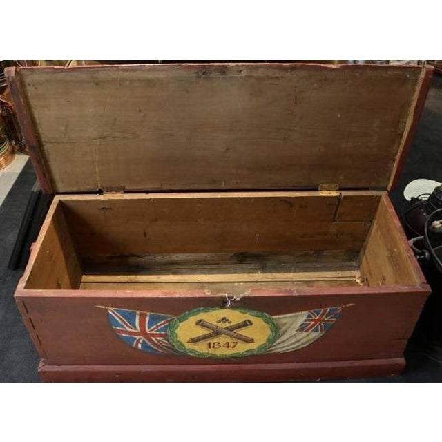 Painted Sea Chest For Sale - Image 4 of 6