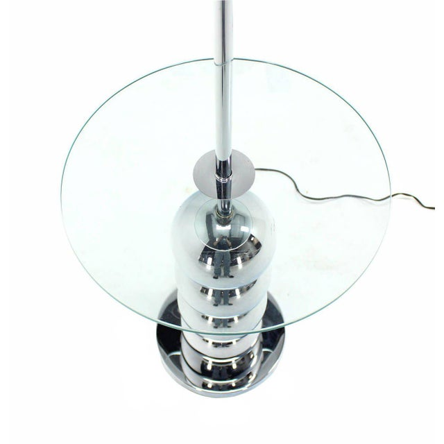 Chrome Globes Glass Floor Lamp For Sale - Image 4 of 6