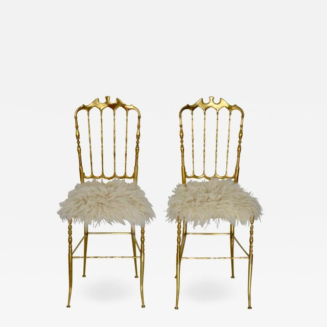 Mid-Century Brass Side Chairs - a Pair For Sale - Image 13 of 13