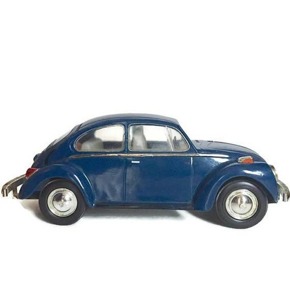 Vintage Volkswagen Beetle Decanter Jim Beam Collectible Metal VW Bug - Image 8 of 10