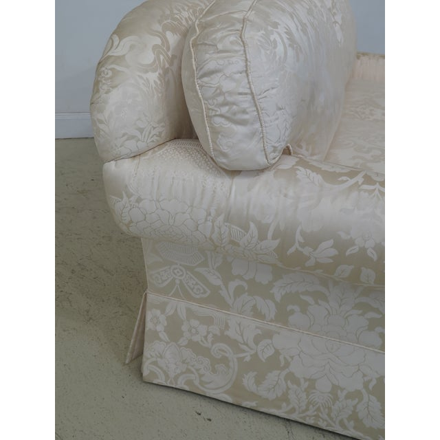 This piece is 5 years old. Includes high quality silk upholstery, a traditional style, down & foam cushions. Excellent...