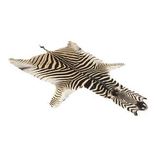 2010s Modern Forsyth Authentic Zebra Hide Rug For Sale