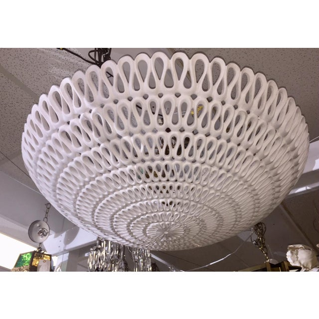 "Contemporary 1970s Contemporary Oly Studio ""Pipa"" Bowl Chandelier For Sale - Image 3 of 11"