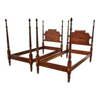 Solid Cherry Twin Beds - a Pair For Sale