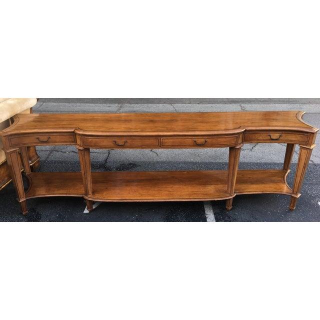 Georgian Spectacular Huge Georgian Style Walnut Console or Sofa Table For Sale - Image 3 of 5