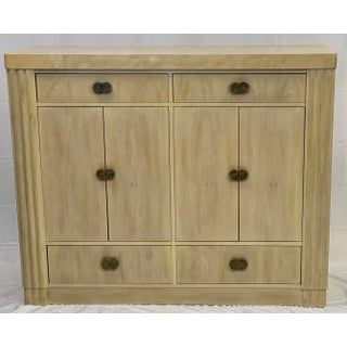 Art Deco Hickory White Pickled Oak Cabinet Preview