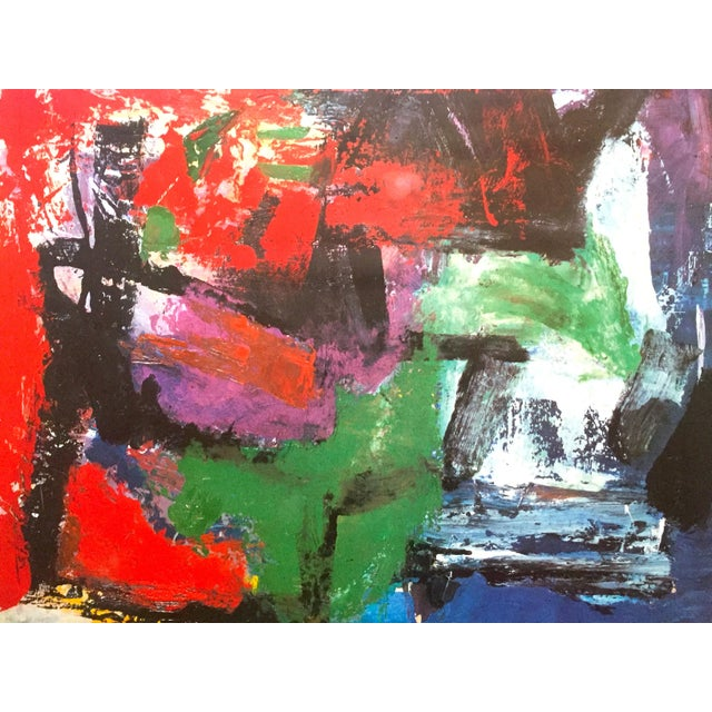 """Franz Kline Franz Kline Rare Vintage 1987 Abstract Expressionist Lithograph Print """" Pafinvest Studio Marconi """" Italian Exhibition Poster For Sale - Image 4 of 13"""