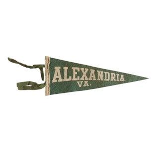 Antique Alexandria Va. Felt Flag Pennant For Sale
