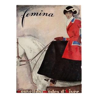 """Femina, November 1930"" Original Vintage French Magazine Cover For Sale"