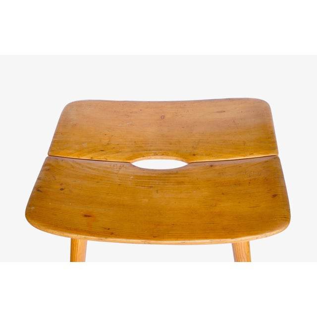 Jacob Muller Stool for Wohnhilfe, Switerland 1950s For Sale - Image 4 of 7