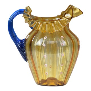 20th Century Italian Murano Liberty Style Pitcher For Sale