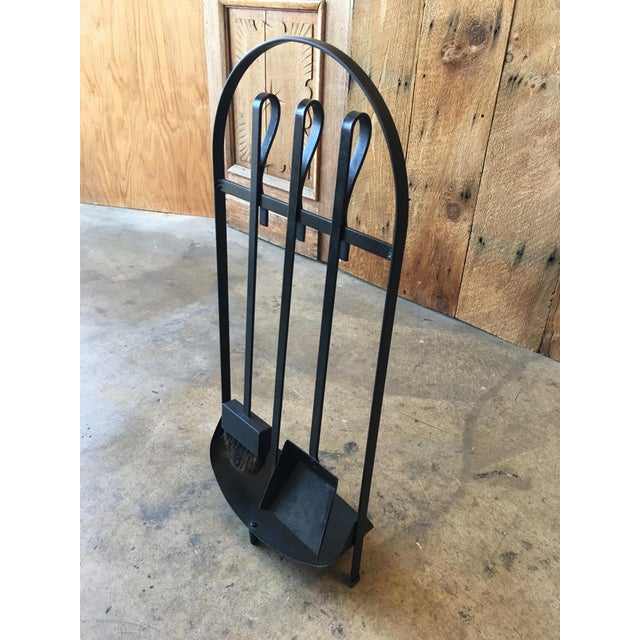 Mid-Century Modern Modernist Wrought Iron Fireplace Tools For Sale - Image 3 of 9