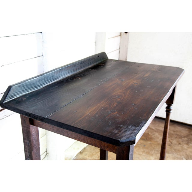 Cabin Vintage Texana Solid Wood Lectern/Writing Table For Sale - Image 3 of 5