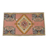 "Image of Hand Knotted Door Mat, Entryway Rug, Bath Mat, Kitchen Decor, Small Rug, Turkish Rug - 1'9"" X 3'2"" For Sale"