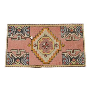 "Hand Knotted Door Mat, Entryway Rug, Bath Mat, Kitchen Decor, Small Rug, Turkish Rug - 1'9"" X 3'2"" For Sale"
