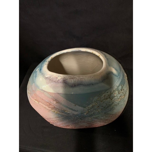 1960s Signed Tony Evans Post Modern Pottery Vase For Sale - Image 5 of 7