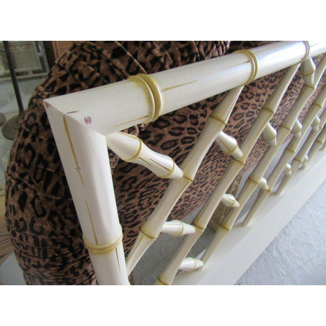 Vintage Faux Bamboo Chippendale Headboard - Image 4 of 7