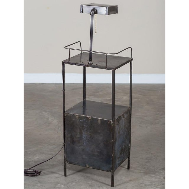 Vintage Industrial French Metal Cabinet with Light circa 1940 - Image 7 of 11