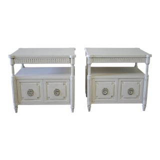 Vintage Neoclassical Style Nightstands - A Pair For Sale