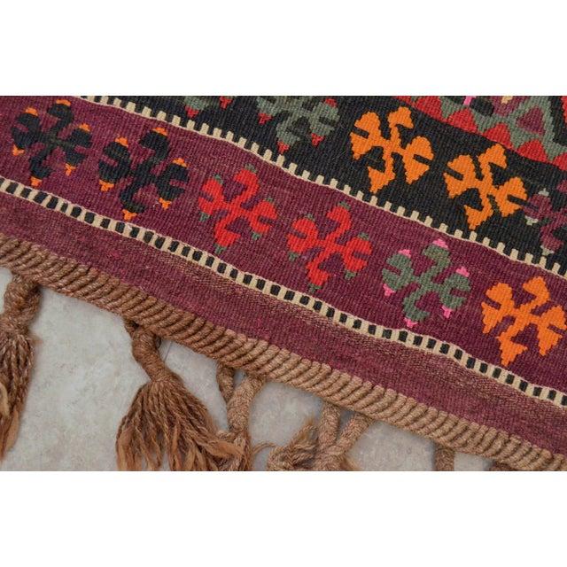 Vintage Anatolian Kars Kilim Rug Large Runner - 4′ × 11′10″ - Image 8 of 9