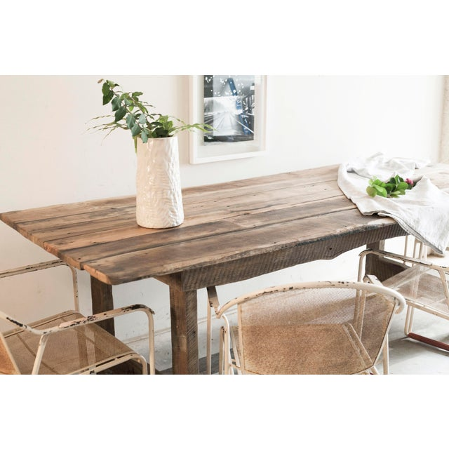 Custom French Farmhouse Dining Table of Reclaimed Barn Wood. For Sale In West Palm - Image 6 of 10
