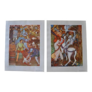 1948 Original Diego Rivera Prints - a Pair For Sale
