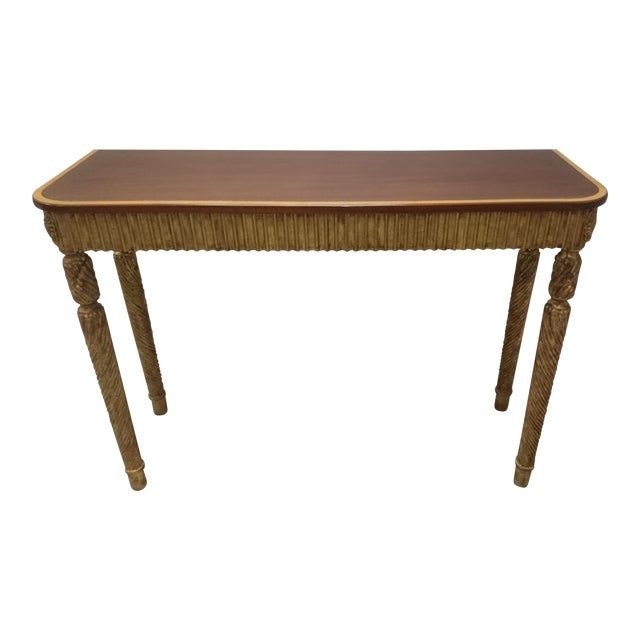 Therien Studio George III Gold Leaf and Mahogany Console - Image 1 of 4