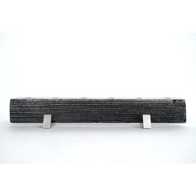 Solid Aluminum Brutalist Candelabras For Sale In New York - Image 6 of 7