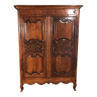 1800s French Country Oak Armoire For Sale