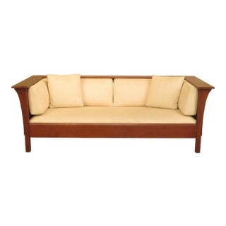 Stickley Prairie Style Mission Oak Spindle Sofa