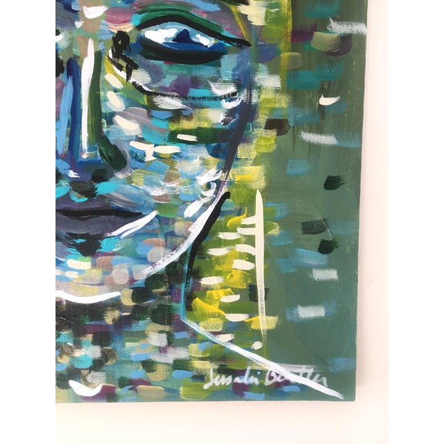 2020s Lady of the Grass Original Painting For Sale - Image 5 of 5