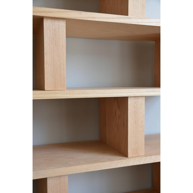 2010s Contemporary Design Frères Verticale Polished Oak Shelving Unit For Sale - Image 5 of 7